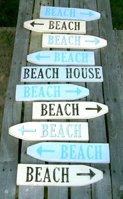 Beach Signs made from picket fence  #beach #signs