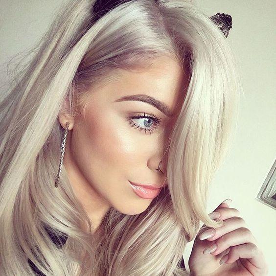Colored Platinum: 15+ Best Ash Blonde Hair Color Ideas 2018 – 2019