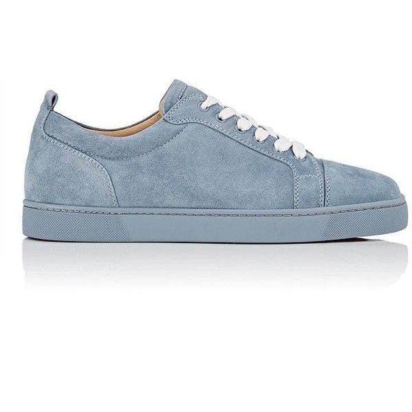 hot sale online 496f5 22b8e Christian Louboutin Men's Louis Junior Flat Suede Sneakers ...