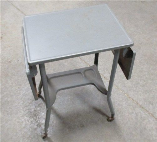 Typewriter Table Industrial Age Stand Metal Desk Cart Mid Century Vintage i #unknown