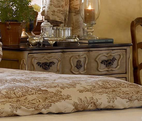 Bedroom Decorating Ideas Totally Toile: This Unusual Color Of Toile Looks So Perfect In This