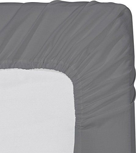 Fitted Sheet Queen Grey Deep Pocket Brushed Velvety Utopia Bedding Fitted Sheet Microfiber