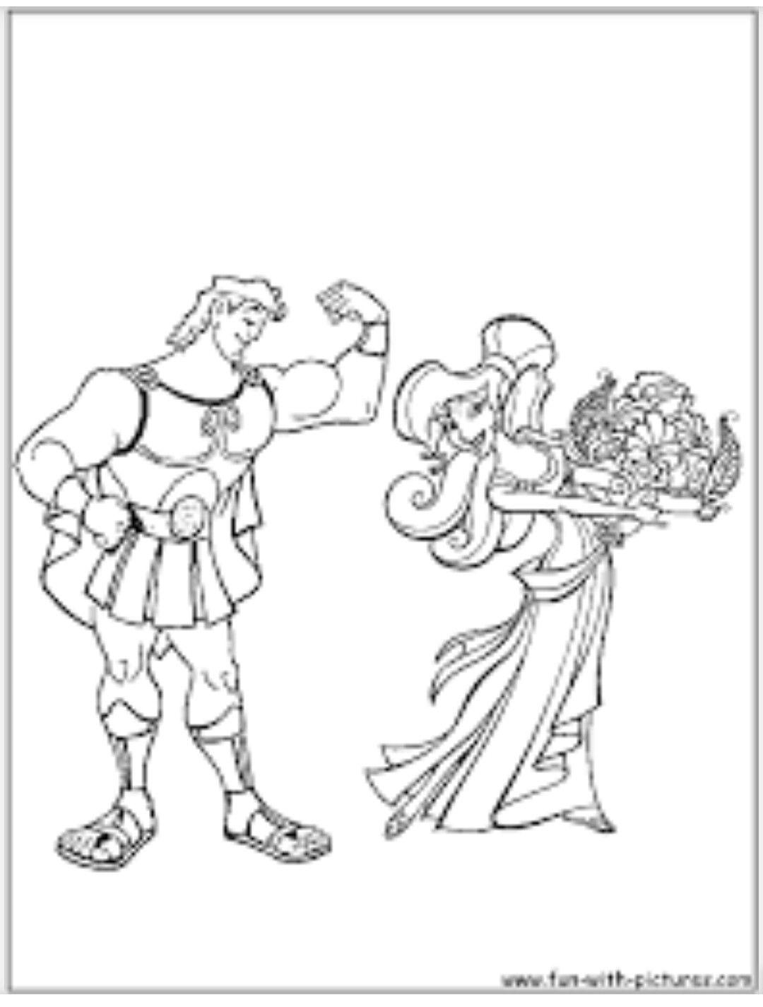 Hercules And Meg Coloring Sheet Disney Coloring Pages Coloring Pages Love Coloring Pages