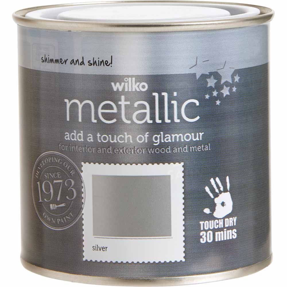 Wilko Silver Metallic Paint Glitter Paint For Walls Wilko