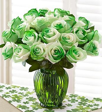 St Patrick S Day Roses Are The Perfect Gift For St Patrick S Day March Birthdays Or For Anyone Who S Proud To Flowers Birthday Flowers Flowers Roses Bouquet