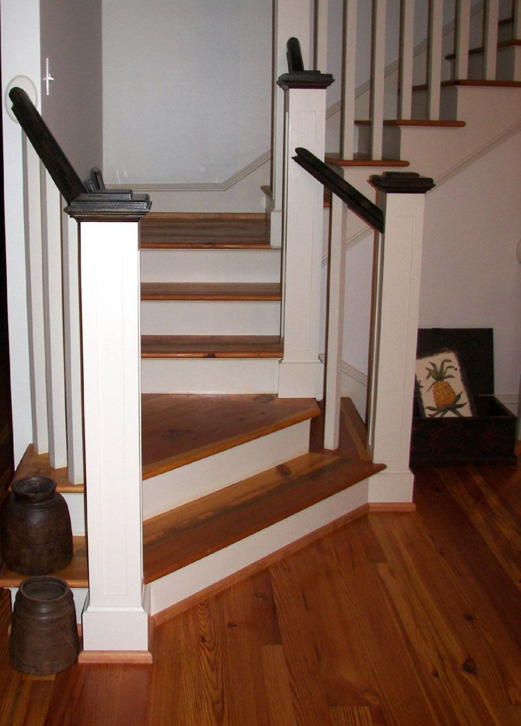 Marvelous Antique Country Heart Pine Stair Treads