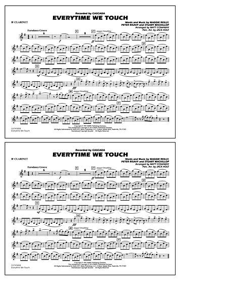 Everytime We Touch Bb Clarinet Music Pinterest Clarinets
