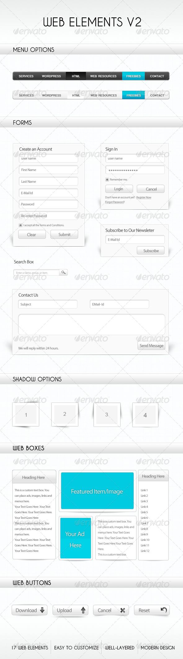 Web Elements V2 - GraphicRiver Item for Sale