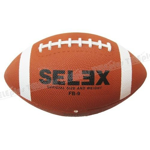 Selex FB-9 Amerikan Futbolu Topu 9 No - Kauçuk  Nizami ölçülerde  433 gr  1 adet Amerikan futbolu topu  Satın alacağınız topların sibobunuvazelinile kayganlaştırarak ve mutlakatop iğnesikullanarak şişiriniz.  Topu kullanmadan şişik vaziyette 24 saat bekletiniz.  Sibobundan iğne girmeyen veya 24 saat içinde inen topları iade edebilirsiniz.  - Price : TL42.00. Buy now at http://www.teleplus.com.tr/index.php/selex-fb-9-amerikan-futbolu-topu-9-no.html