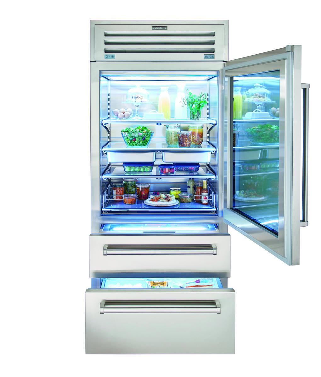 Sub Zero 36 Pro Refrigerator Freezer Pro3650 Glass Refrigerator Refrigerator Freezer Glass Door Refrigerator