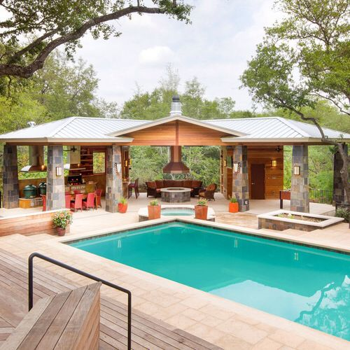 Pin By Del Sheena Brendle On Decks And Patios Outdoor Gazebos Pool Houses Pool House Designs