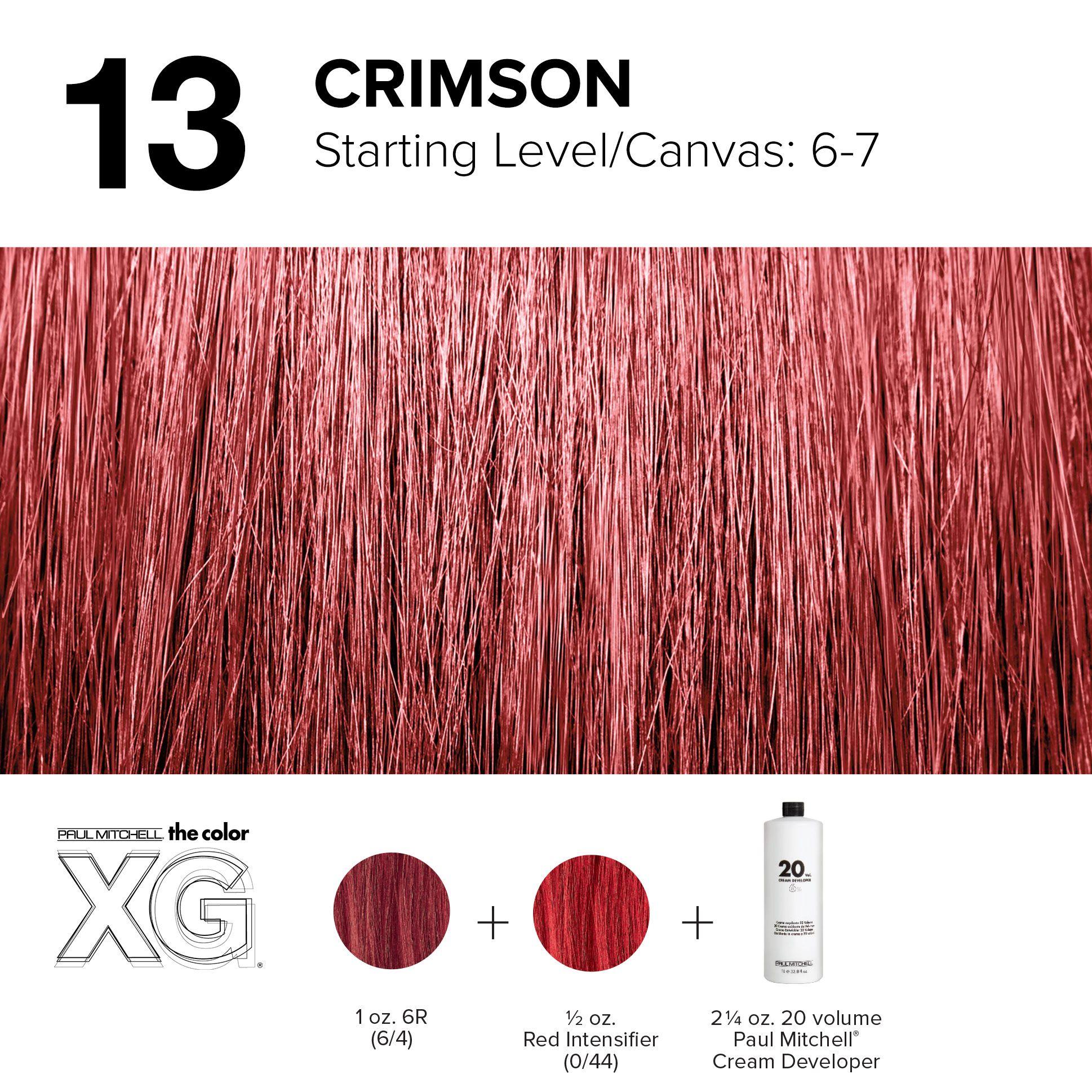 13 Crimson Paul Mitchell Color Hair Color Formulas Red Violet Hair Color