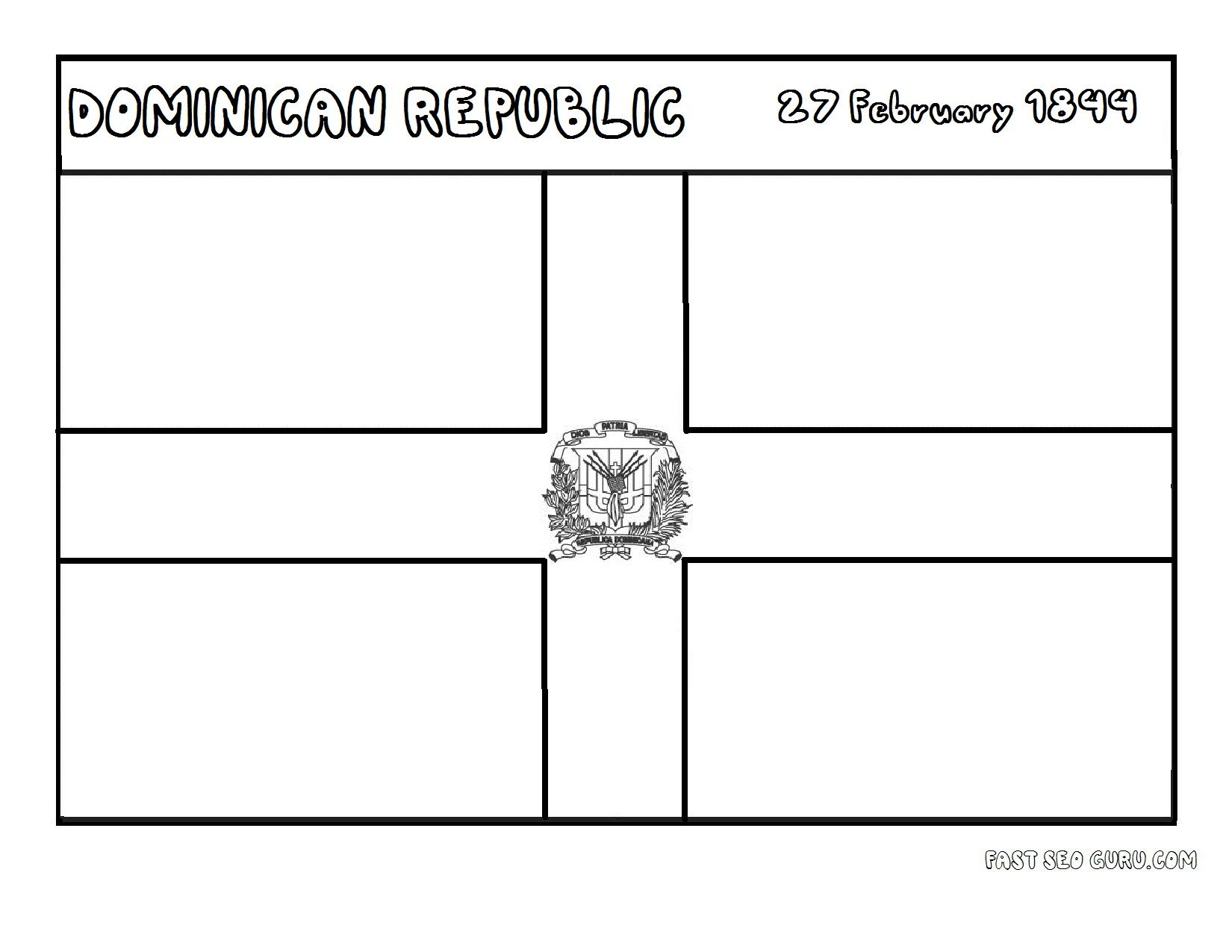 Dominican Republic Flag Coloring Page Google Search Flag