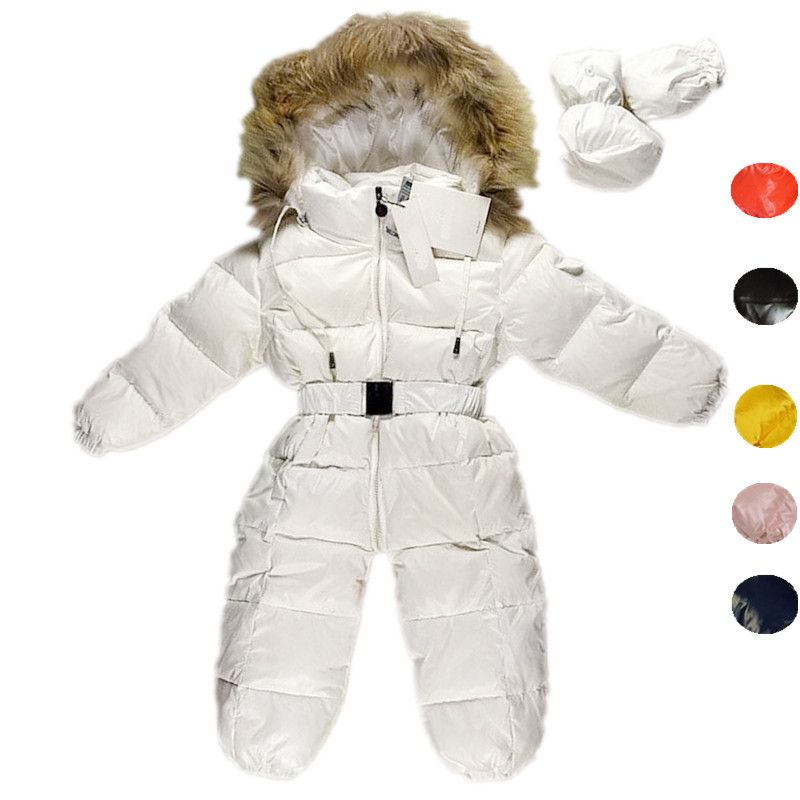 5fe2c554efea Nice Children Newborn Winter Rompers Goose Down Jumpsuit Kids ...