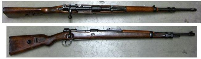 K98 German 8mm Mauser With UNPEENED Markings 43900