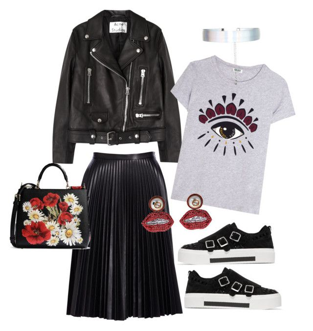 """""""Care free city girl"""" by versastyle-sel ❤ liked on Polyvore featuring Cusp by Neiman Marcus, Acne Studios, Kenzo, Alexander McQueen, Accessorize, Gucci and Dolce&Gabbana"""