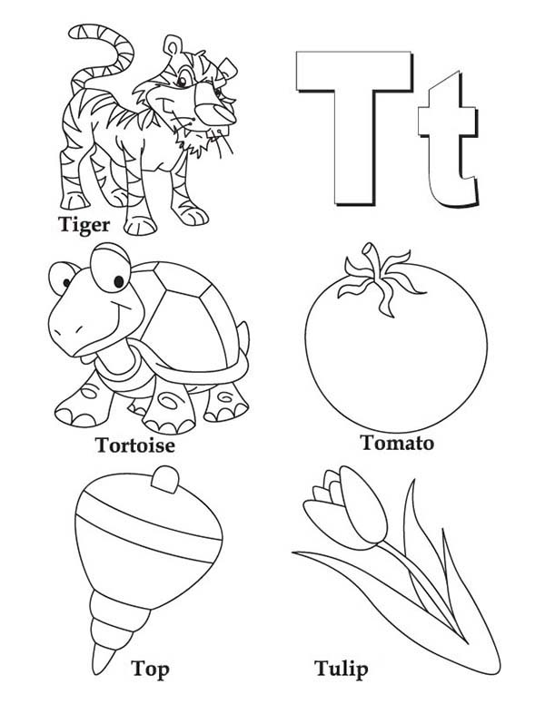 Things Comes With Letter T Coloring Page Bulk Color In 2020 Abstract Coloring Pages Letter A Coloring Pages Detailed Coloring Pages