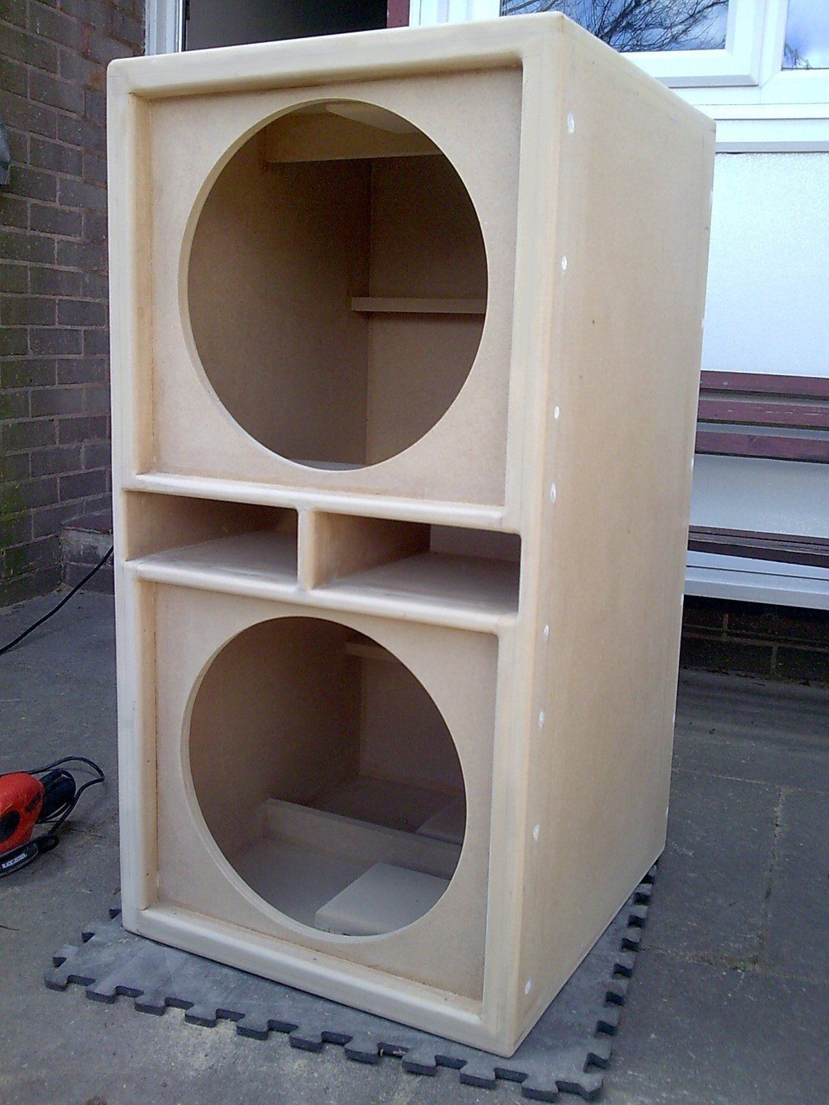 Pair Of Double 15 Bass Bins Speaker Boxs Soundsystem Fane Pd
