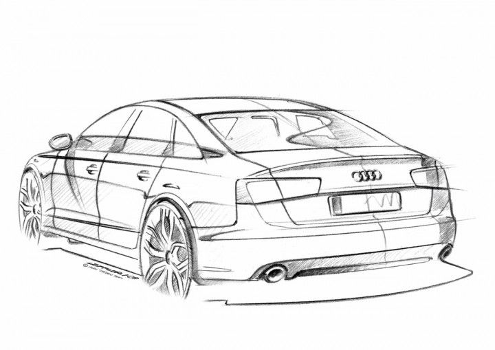 Audi A6 Design Sketch Discuss I Say No It Is Not Rysunki
