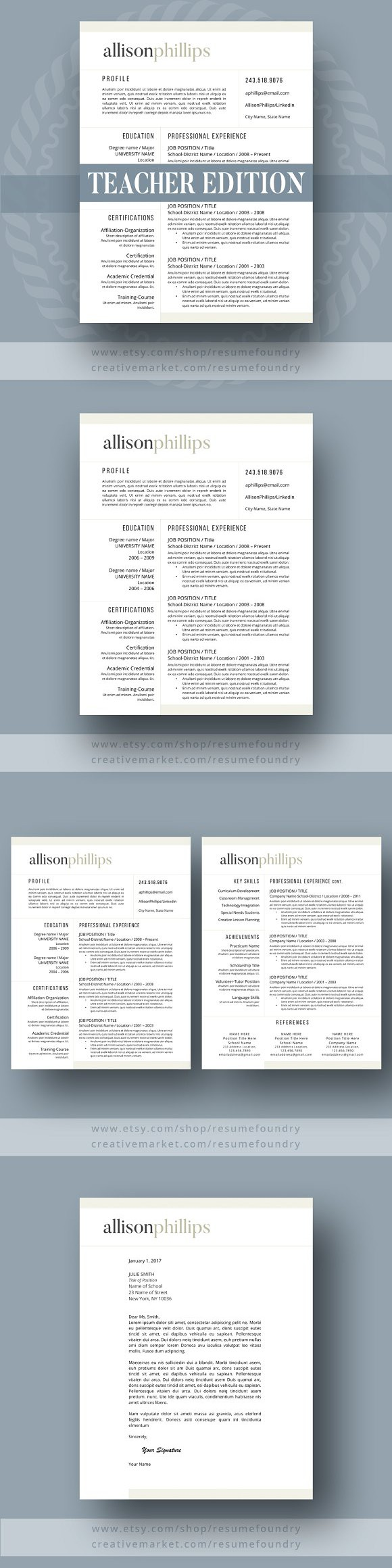 Teacher Resume Template   Pag  Teacher Resume Template