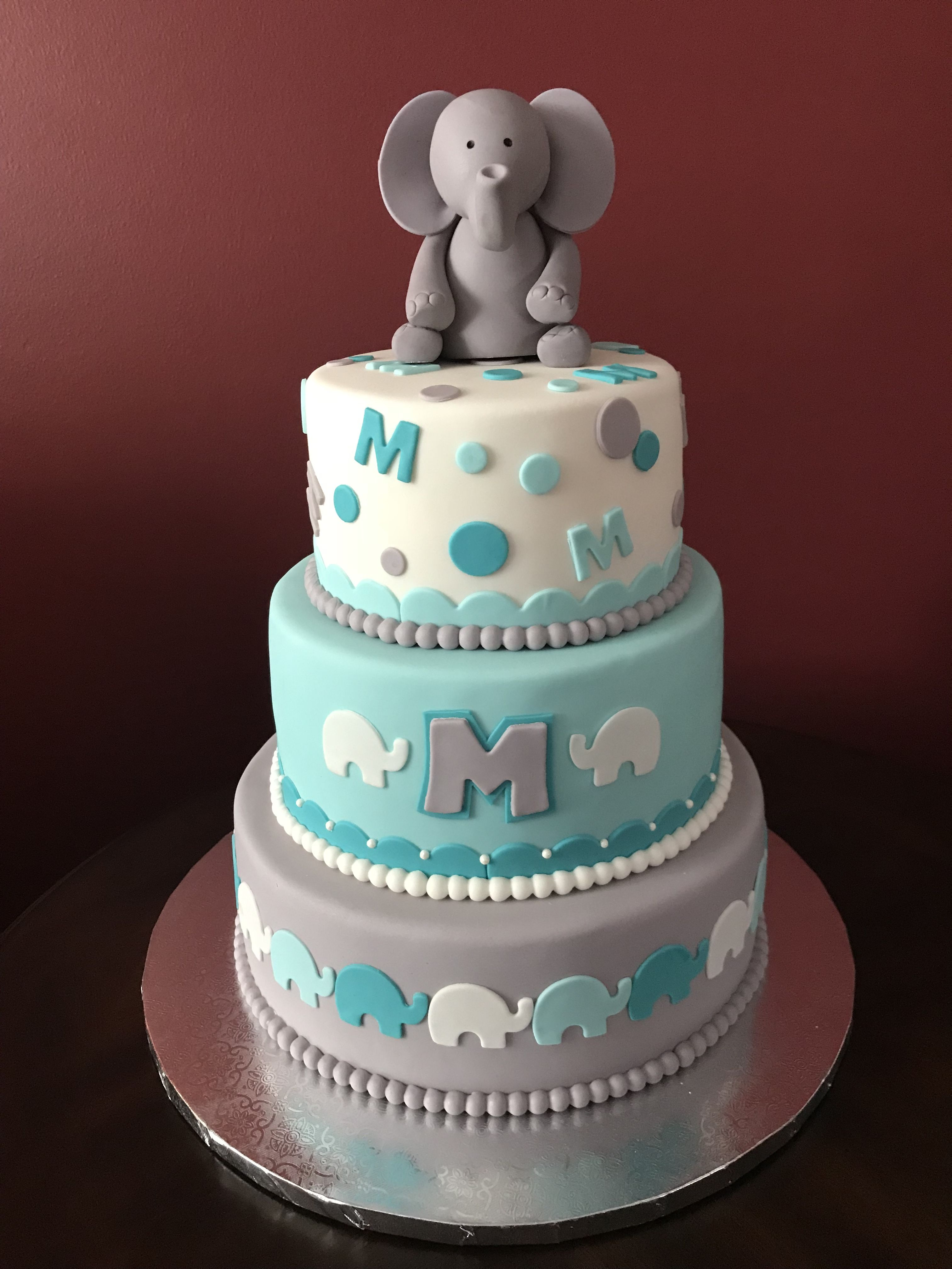 Baby Shower Cake Ideas Boy : shower, ideas, Elephant, Shower, Theme,, Cake,