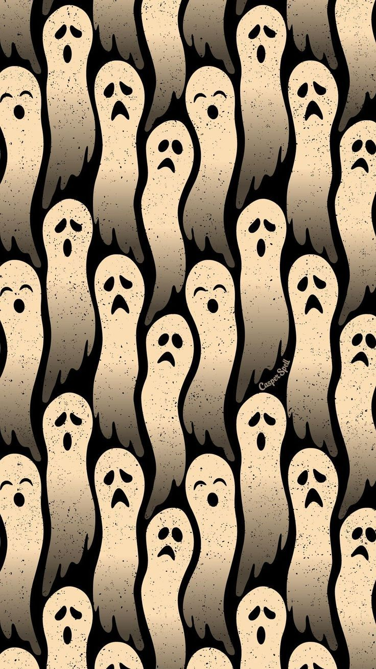 Ghosts repeat pattern Halloween background wallpaper patterns backgrounds wallpa #halloweenbackgroundswallpapers