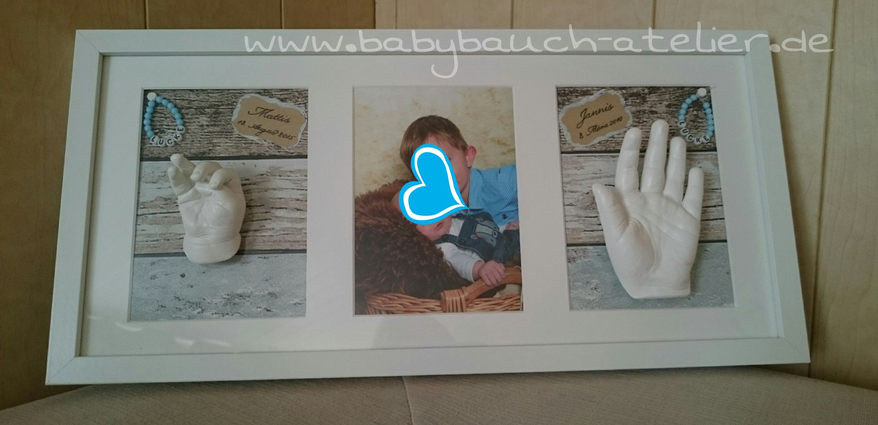 Baby 3D Abdruck Rahmen www.babybauch-atelier.de