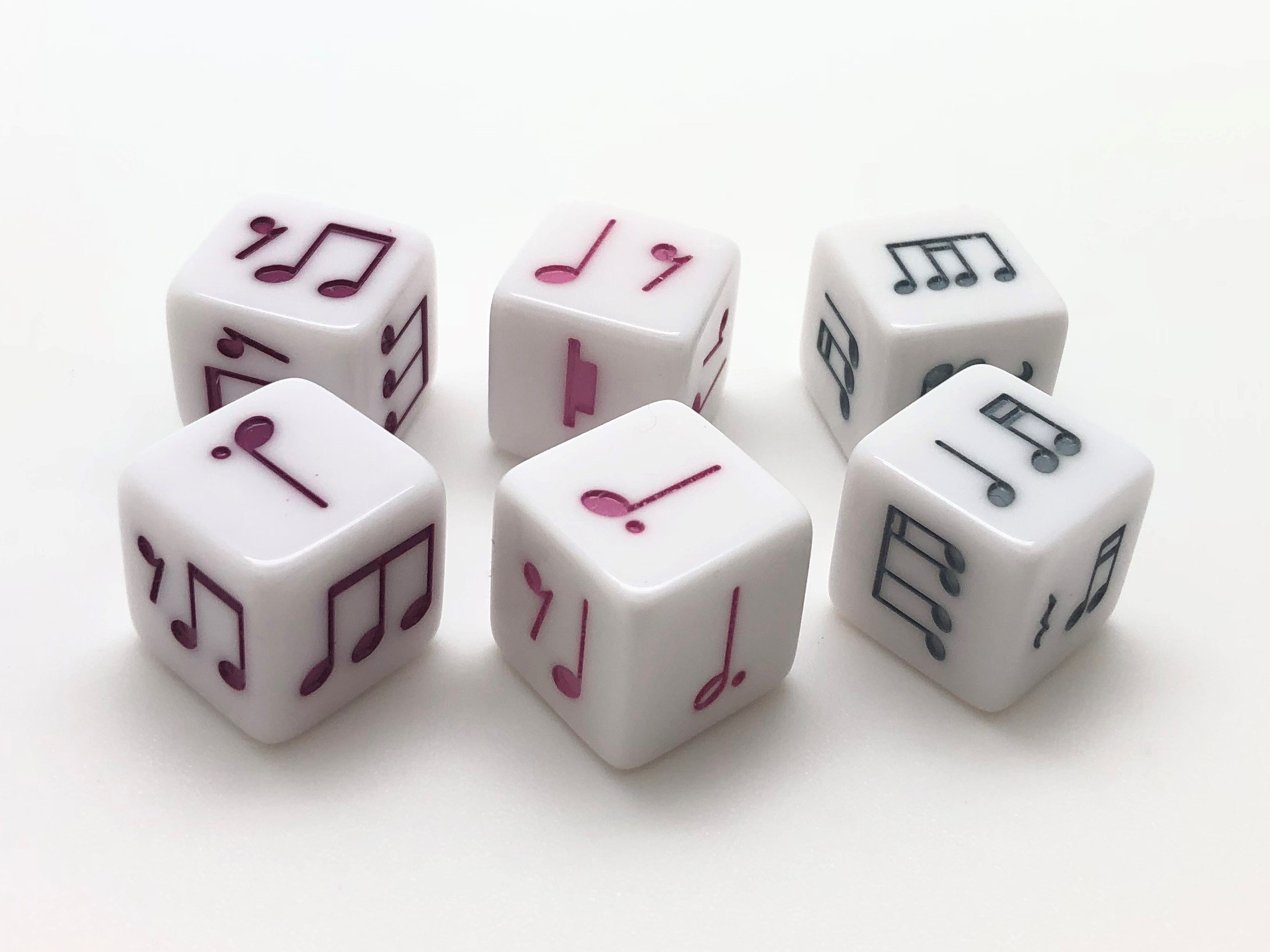 16 Mm Dotted Quarter Notes Dice Variety