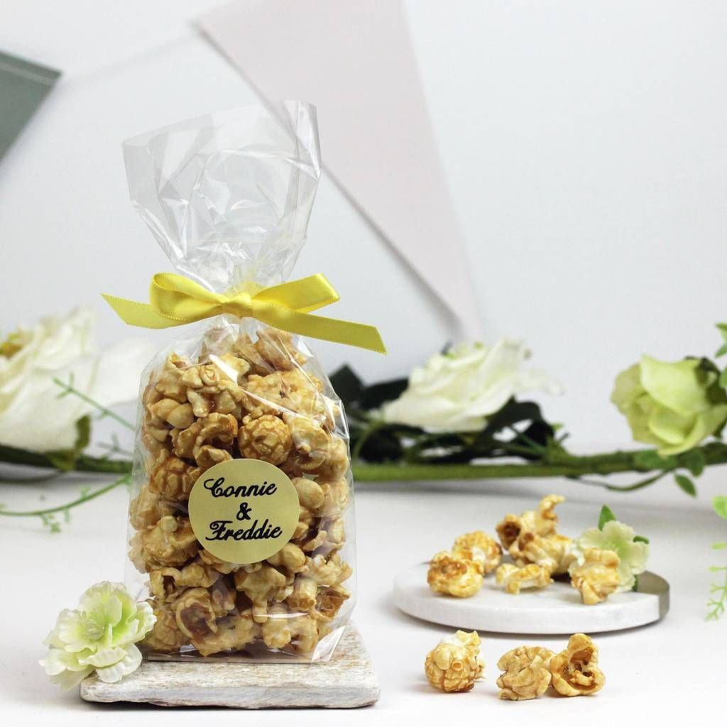 Personalised Gin And Tonic Popcorn Wedding Favours | Unique wedding ...