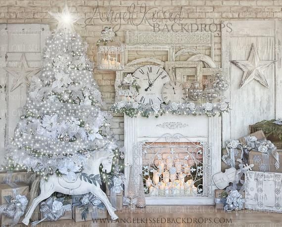Hey I Found This Really Awesome Etsy Listing At Https Www Etsy Com Listing 553303989 Elegant Chr In 2020 Christmas Fireplace White Christmas Decor Elegant Christmas