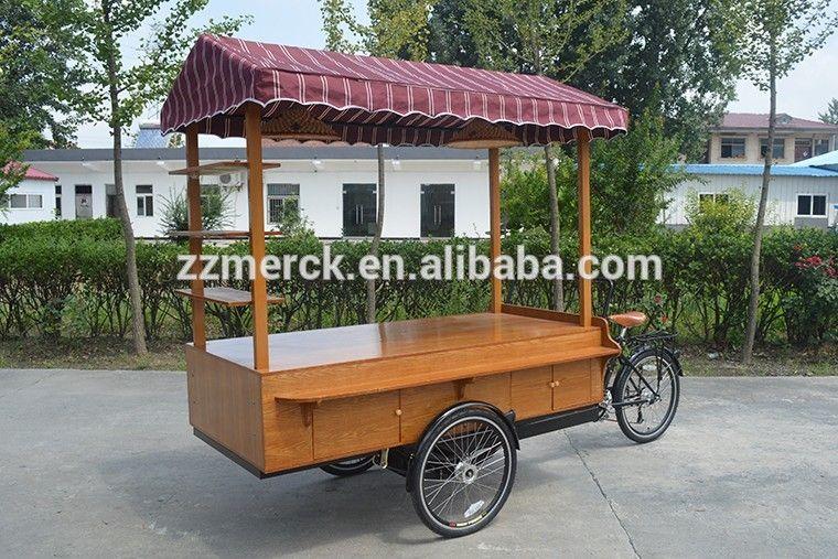 Retro Mobile Street Business Use Three Wheel Electric Coffee Bike