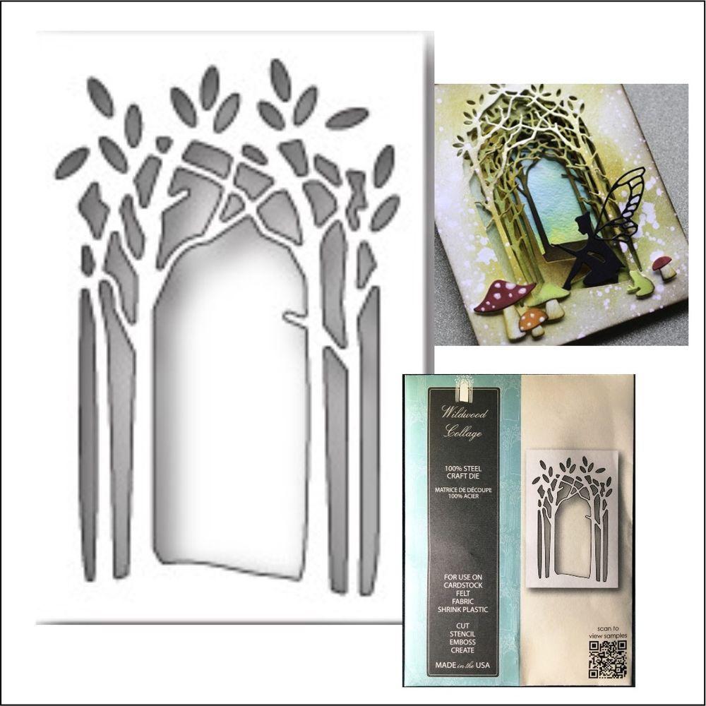 Wildwood Collage Frame metal die Memory Box cutting dies 99732 trees ...