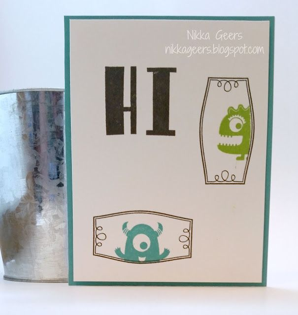Close To My Heart Card Making Ideas Part - 46: Create Your Vision: Framed Stamp Of The Month Blog Hop Hi Card Love Ya  Silly · Create YourClose To My HeartBday CardsMonstersCard ...