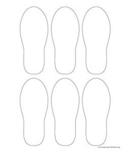 Flip Flop Pattern~ In case tracing their feet doesn't work