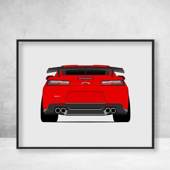 Chevy Camaro ZL1 1LE 2018-2019 Poster Print Wall Art Decor | Etsy