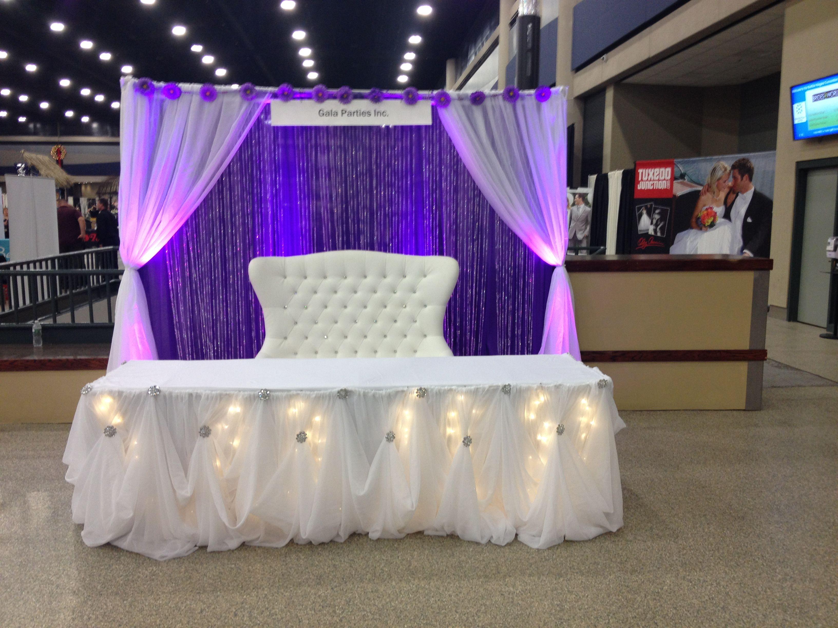 Purple Amp White Head Table Wedding Decor Ideas Buffalo Ny