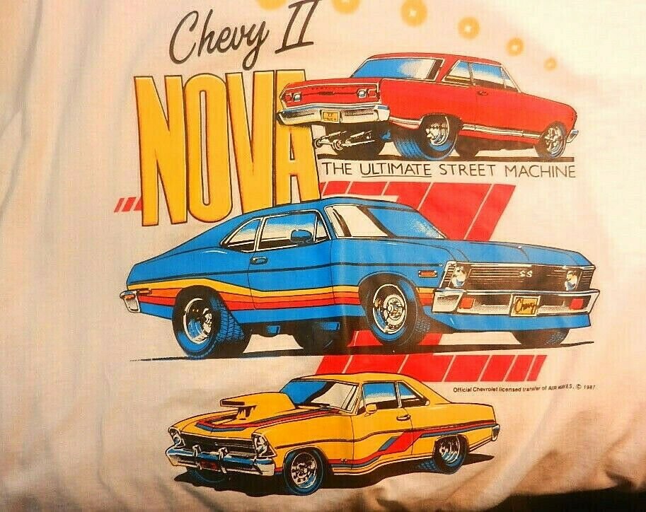 Chevy Nova T Shirt Men S Graphic Vintage Short Sleeve Muscle Cars