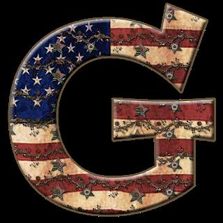 Alfabeto Con Bandera De Usa Vieja Alphabet With The Usa Flag In Metal Capital Alphabet Alphabet Scrapbook