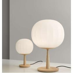 Photo of Luceplan Lita table lamp with table base Ash wood Ø 30cm LucePlan