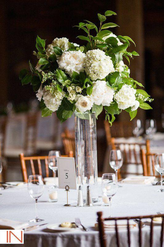 Classic wedding centerpiece idea tall glass