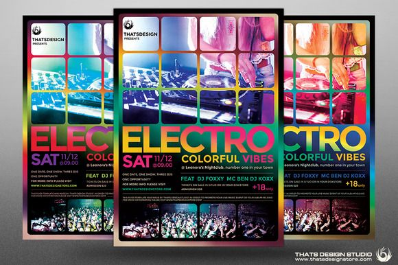 big sale ea446 5f833 Electro Flyer Template V5 by Thats Design Studio on ...