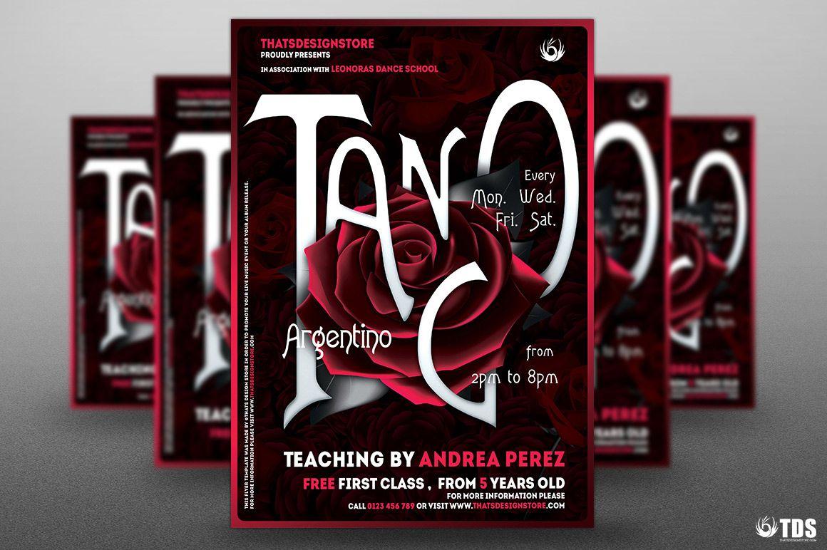 Tango Flyer Template PSD V.3