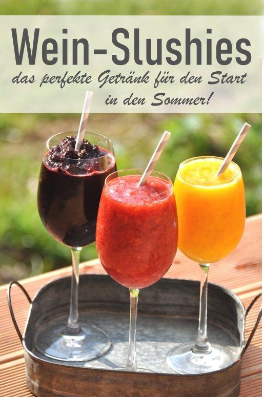 Wein-Slushies. Das perfekte Sommergetränk. (Das Original Thermomix-Rezept) #foodanddrink