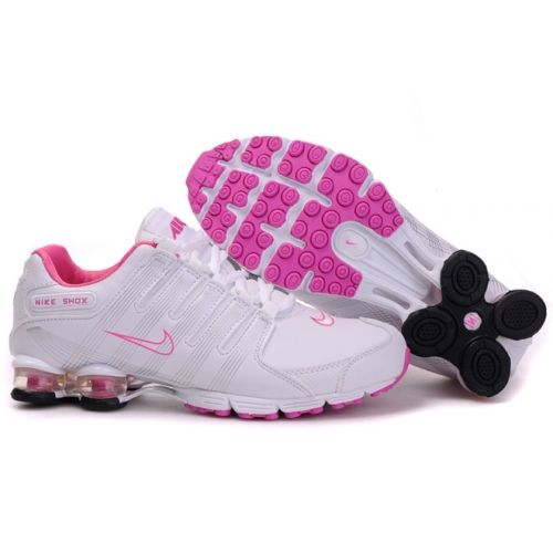 new style 4fc41 b60b5 Nike Shox R4 V PU White Pink Black Women Shoes  69.59