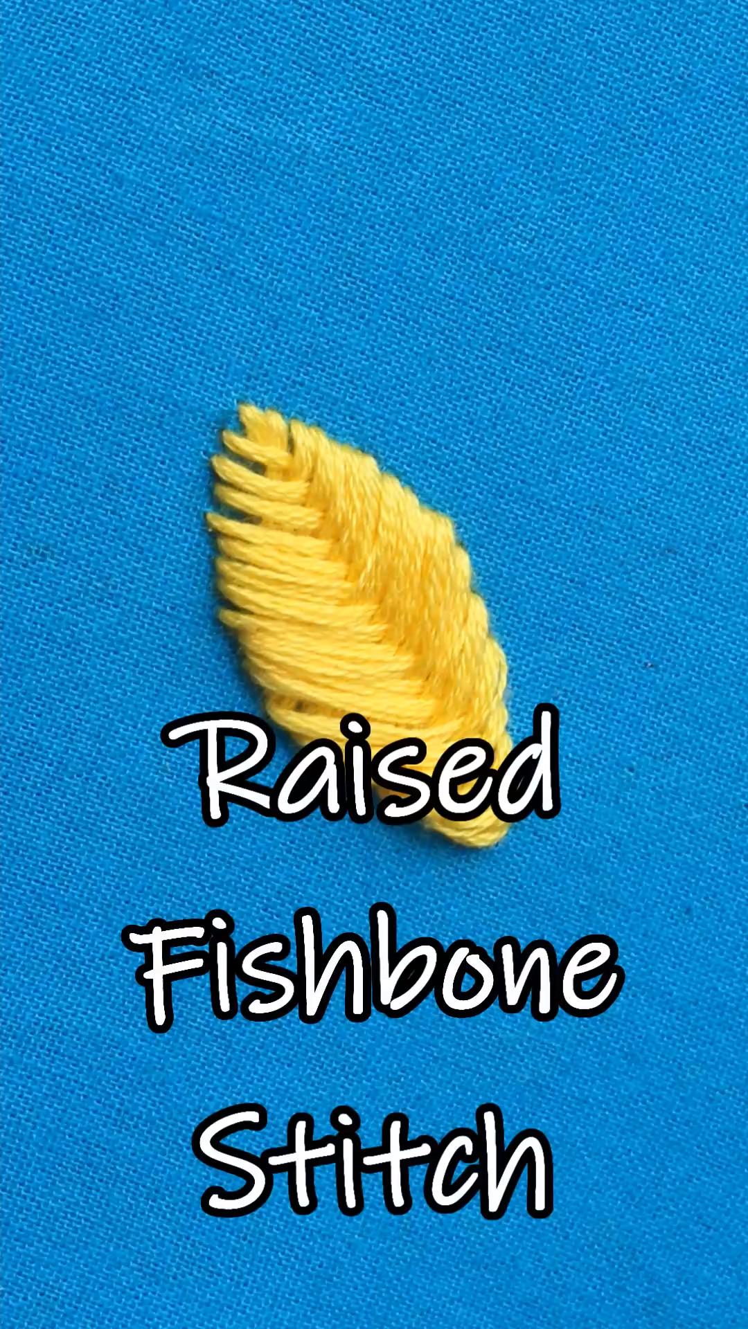 Raised Fishbone Stitch #embroidery