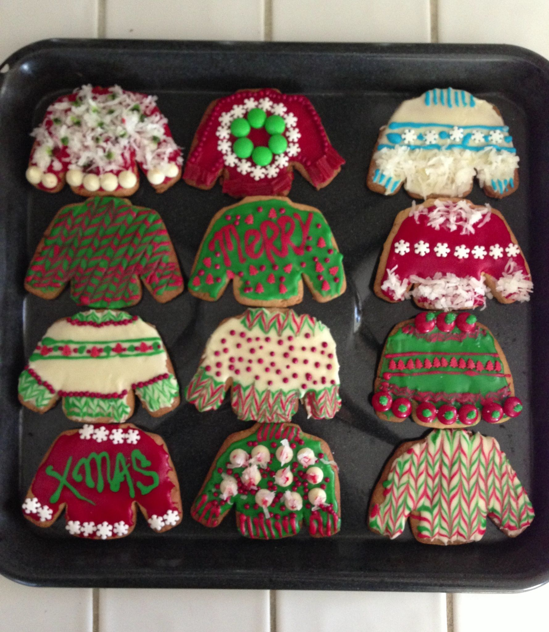 Gmail themes holiday - Diy Ugly Christmas Sweater Cookies Made By Me Aline Urkumyan Email Me At Madame