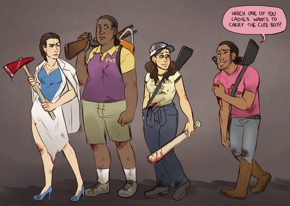Left 4 Dead 2 Genderbend By Zombiefruits On Deviantart Left 4 Dead Genderbend Dead