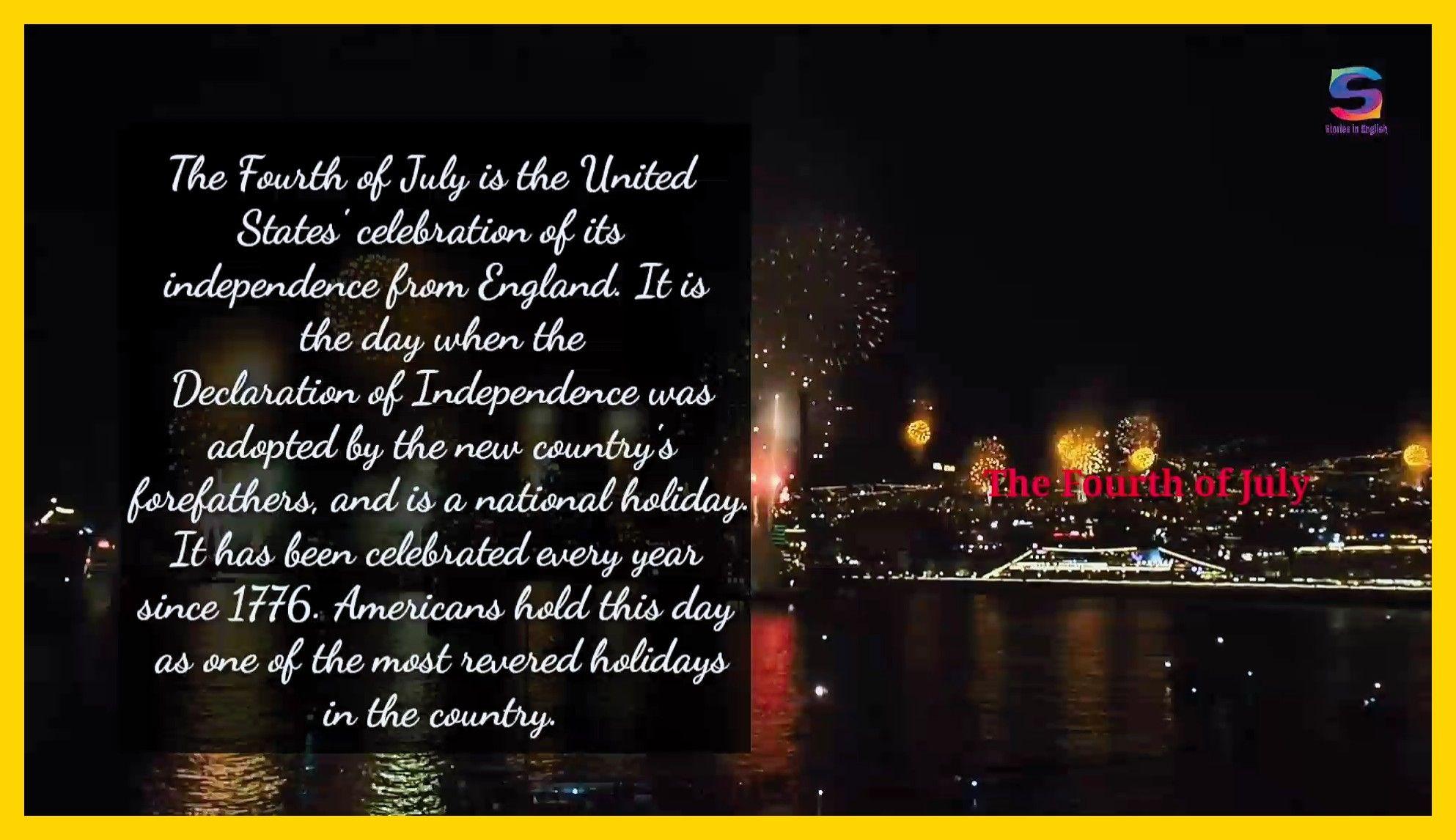 قصة قصيرة باللغة الانجليزية A Short Story In English The Fourth Of July قصة قصيرة باللغة الانجليزية English Short Stories English Story Fourth Of July