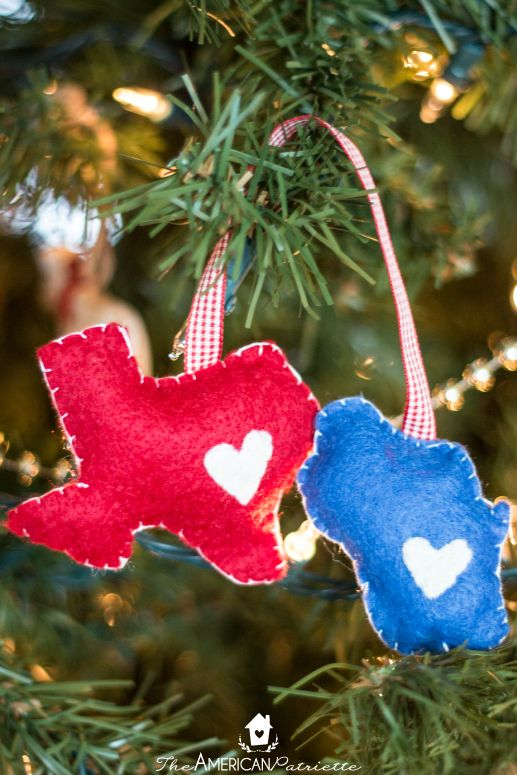 DIY Home State Felt Christmas Ornament - Easy, inexpensive,  budget-friendly, sentimental homemade Christmas gift idea for a friend or  family member! - DIY Home State Felt Christmas Ornament DIY Home Decor And Craft