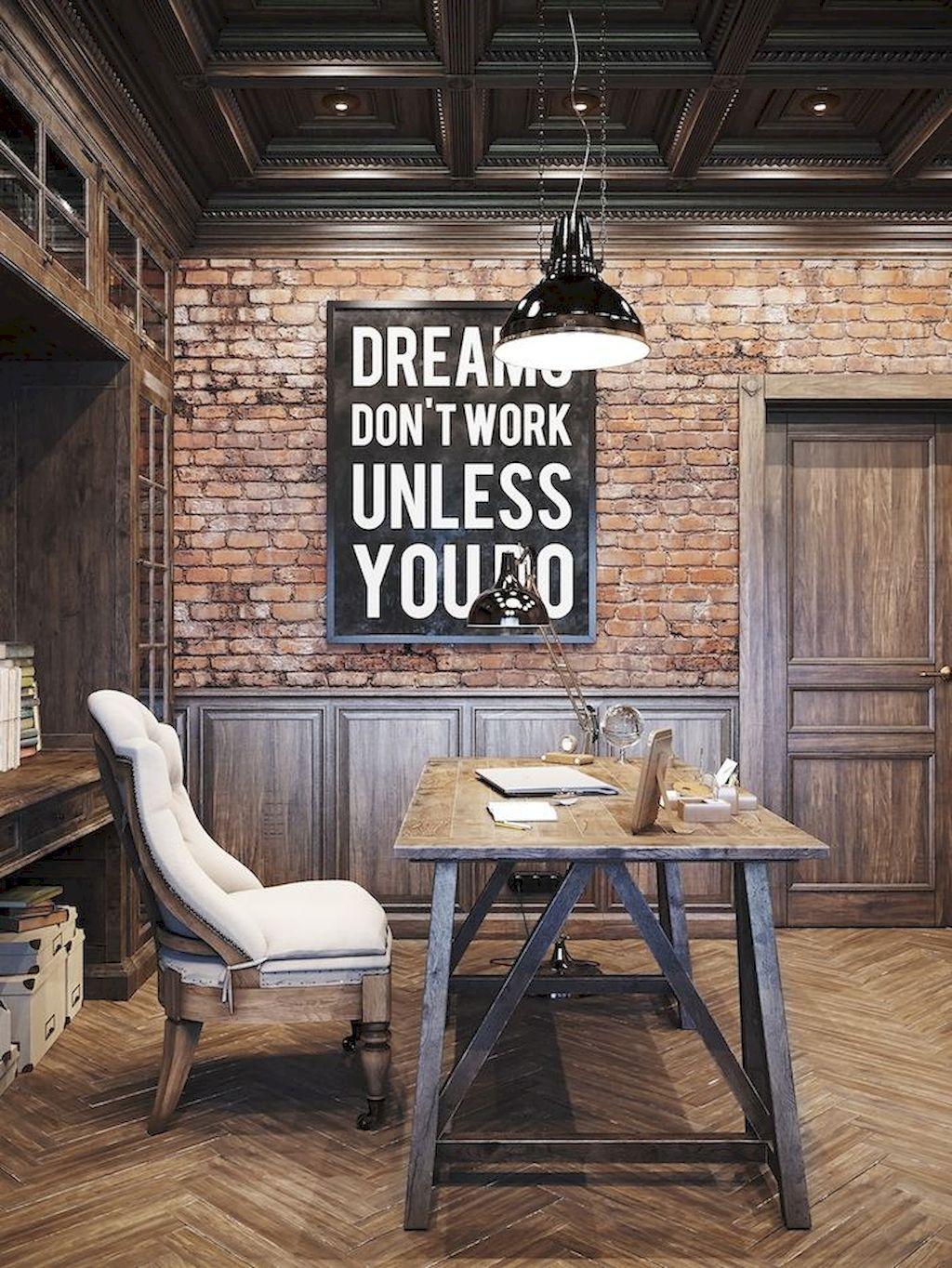 45 Amazing Rustic Home Office Furniture Ideas Furniture ideas
